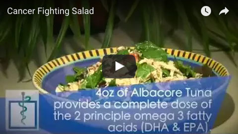 Watch this video showing a great cancer fighting salad recipe - Health-otb.com